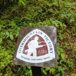 Overmountain Victory National Historic Trail sign.