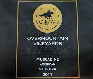Wine label for Muscadine wine.