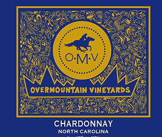 Chardonnay wine label.